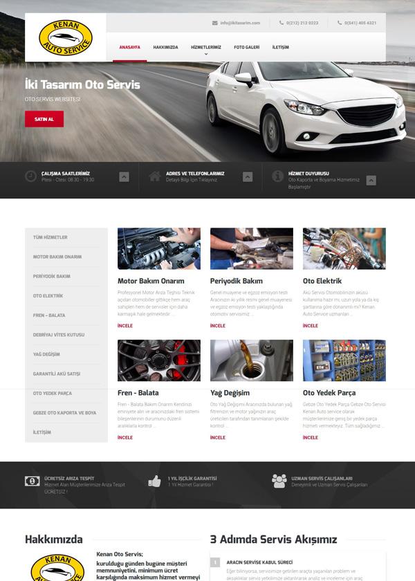 Oto Servis Web Sitesi