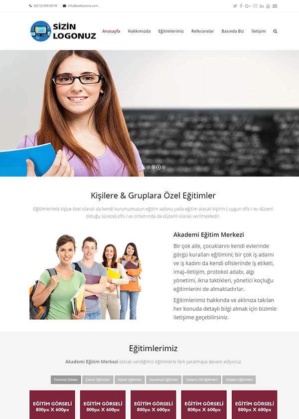 Eğitim Merkezi Web Sitesi