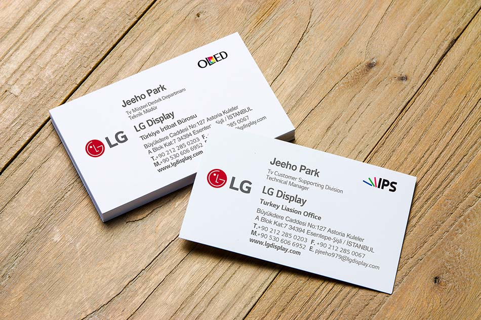 LG-Display Kartvizit